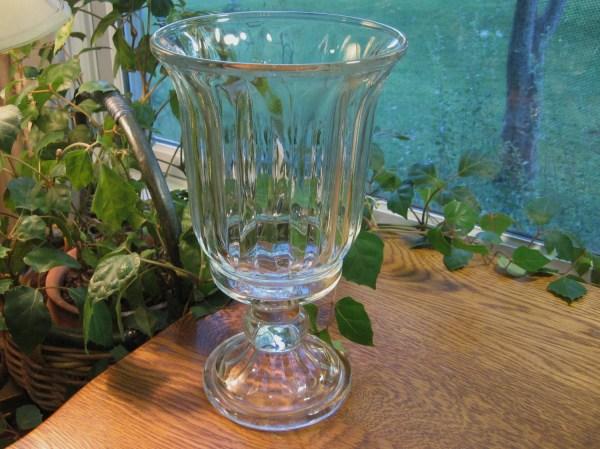 Glass Pedestal Vase Home Interiors Urn Style Vintage