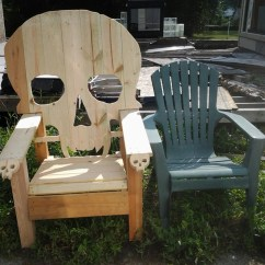 Wooden Skull Chair Covers And Bows To Buy Adirondack Yard Furniture Solid Wood By