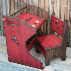 Red Childrens Desk Chair Detroit Tigers Rustic Western Wood Kid 39s And
