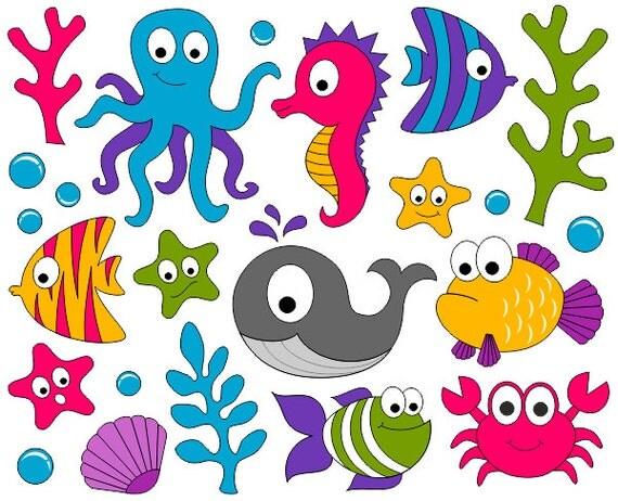 under sea clip art ocean digital