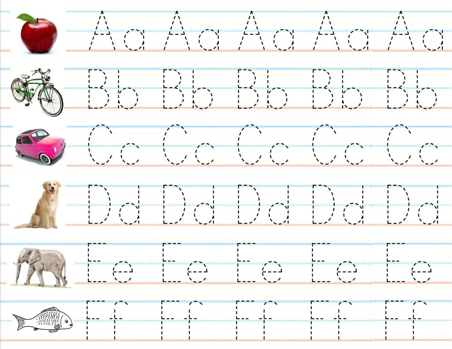 Items Similar To Set Of 3 Laminated Alphabet Amp Number Sheets For Writing Practice And Placemats