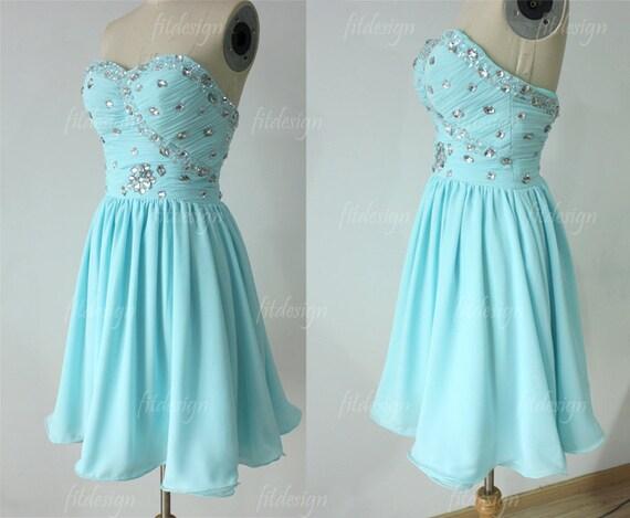 baby blue prom dress short prom dress chiffon prom by fitdesign