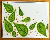 Green Leaves Card - HandmadebyHannahJo