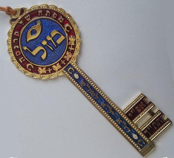 Key Of Wealth Kabbalah Amulet Pewter Wall Hanging