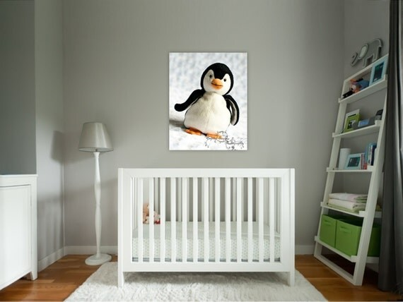 Items similar to Penguin Print Baby Nursery Decor Toddler Bedroom Art Childrens Playroom Pink