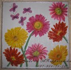 """The painting """"Gerbera"""", pink, orange and yellow, flowers"""