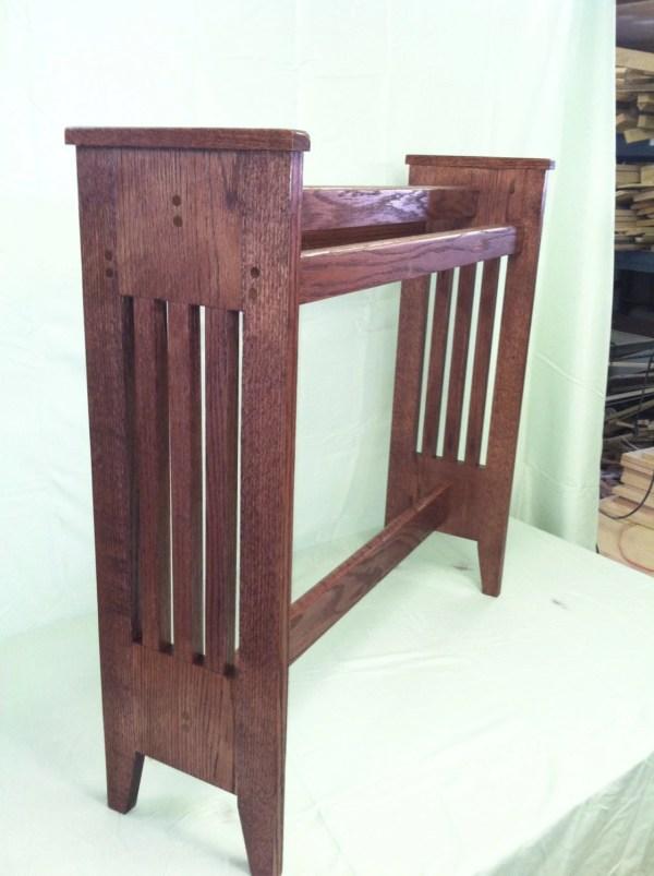 Oak Quilt Rack