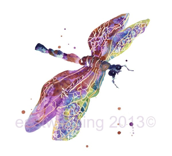 Dragonfly Art 5x7 Print Small Mothers Day Springtime