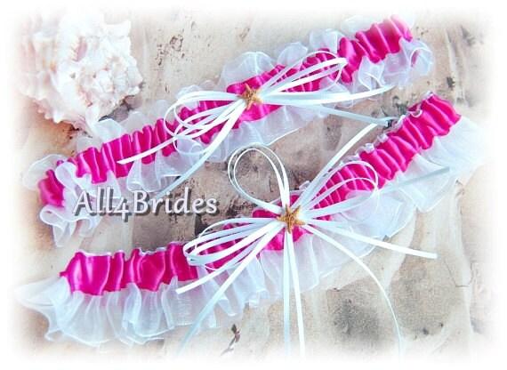 Starfish Garter Set Beach Wedding Garters Bridal Leg Garter