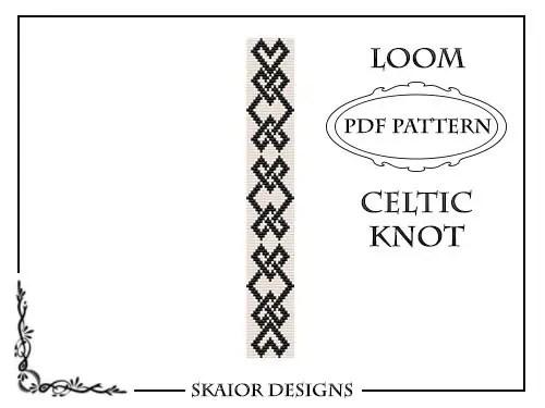 Loom Beading Pattern Celtic Knot Bracelet Seed Bead Pattern
