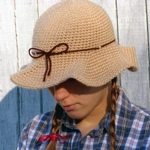 Scarecrow Hat 5 Sizes PDF Crochet Pattern Instant