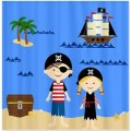 Pirate life kids shower curtain by happywoodgoods on etsy