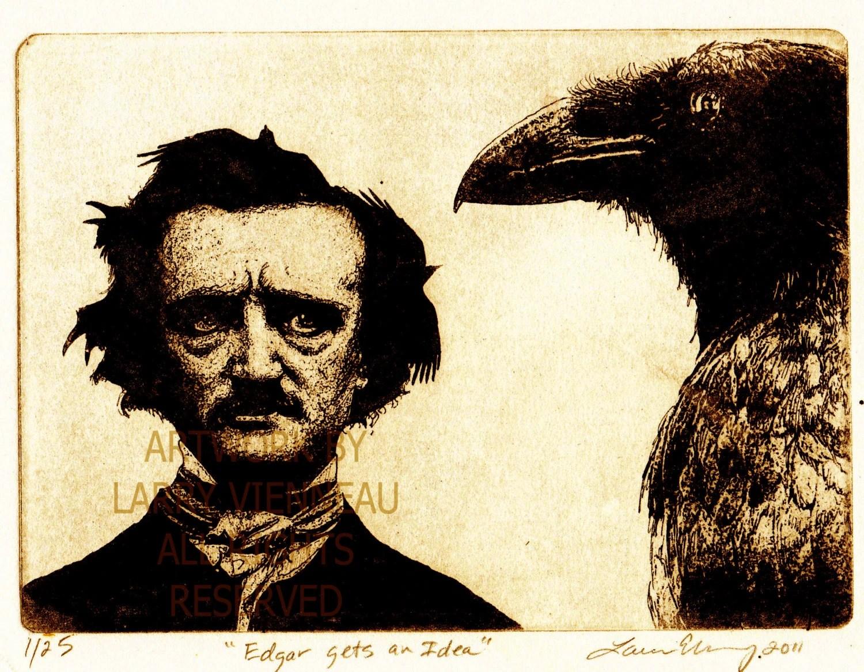 Edgar Allan Poe Nevermore Raven Artwork Raven Crow