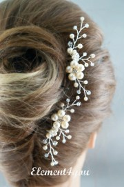 bridal comb wedding hair set