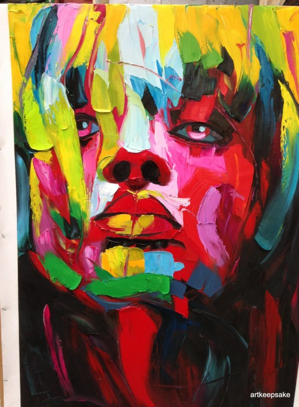 Woman Faces Abstract Art Paintings