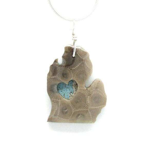 Heart Michigan Petoskey Stone Leland Blue