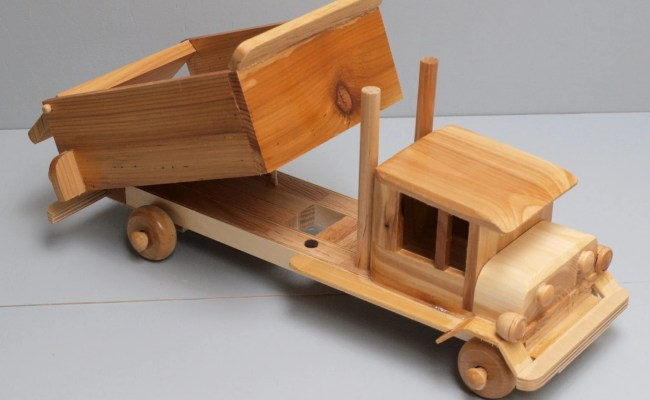 Large Toy Wooden Dumptruck Car Reclaimed Wood Kid S