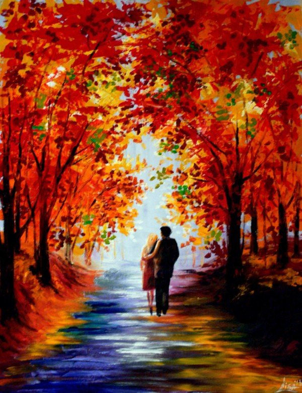 Painting Autumn Walk