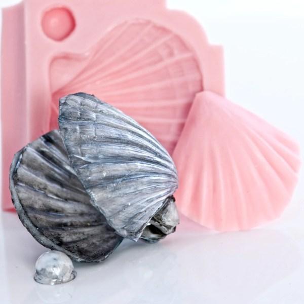 Sea Shell Silicone Mold Impression Mat Fondant