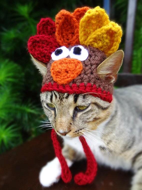 Cat Hat Costume The Thanksgiving Turkey Hat by iheartneedlework