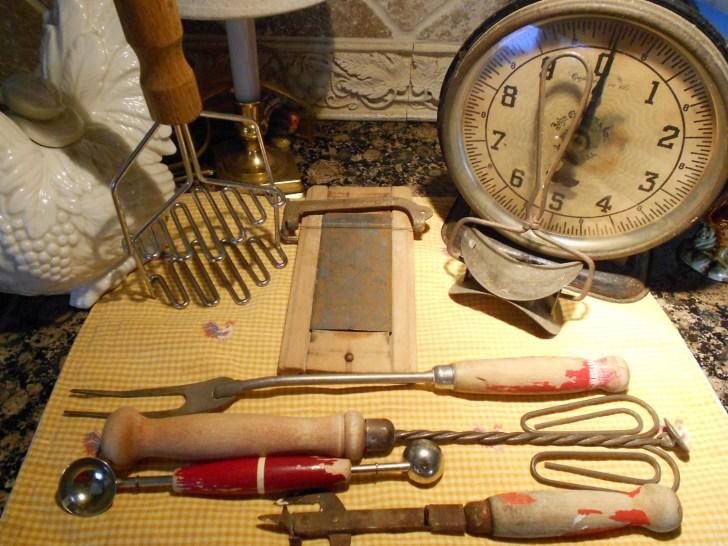 Sale Vintage Kitchen Tools Antique Cooking Utensils Wooden