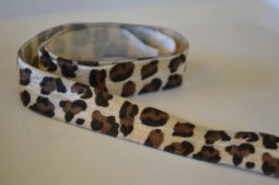 animal print elastic bias tape