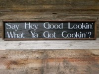 Kitchen Wall Decor Handmade Wood Sign Rustic by CrowBarDsigns
