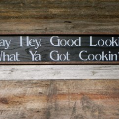 Wooden Signs For Kitchen Lowes Hood Wall Decor Handmade Wood Sign Rustic Country