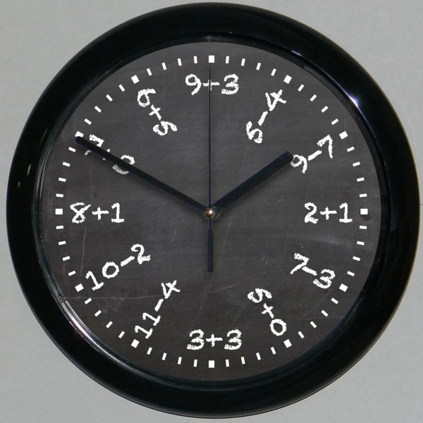 Math Equations Clock Wall