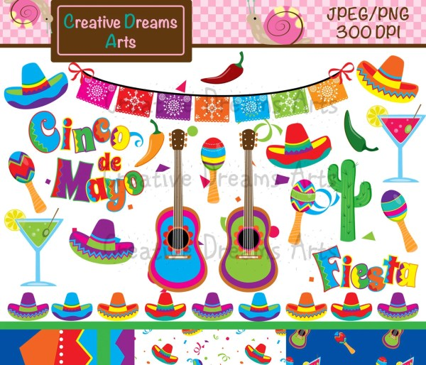 fiesta digital clip art