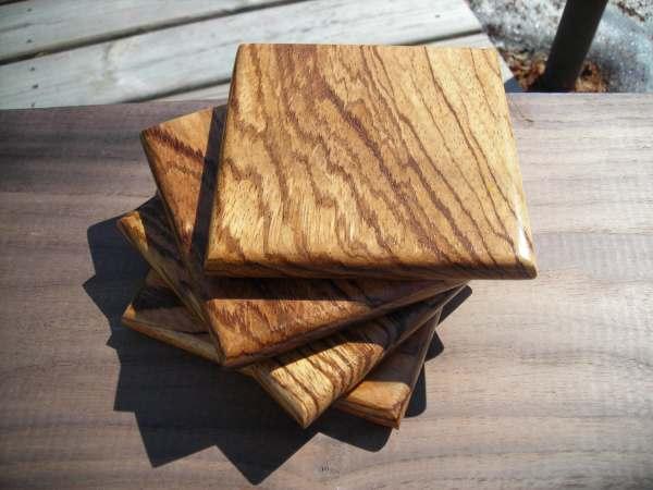 Handmade Exotic Wood Coaster Set Free Shipping