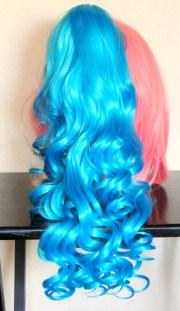 aqua blue hair ponytail track