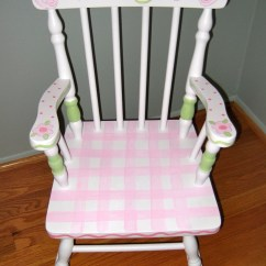Personalized Kids Chair Cuddler And 1 2 Recliner Children Hand Painted Rocking