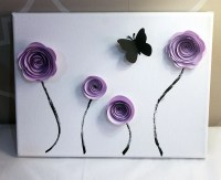 Lavender Paper Flower Canvas 9x12 Wall Art Baby by ...