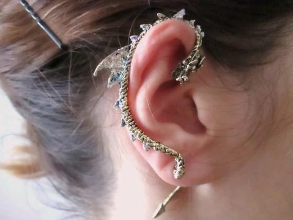 Punk bronze Dragon Ear Cuff Earring dragon jewelry dragon