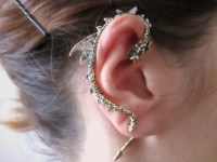 Punk bronze Dragon Ear Cuff Earring dragon jewelry dragon