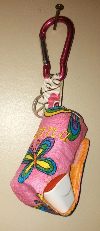 Items similar to Monogrammed Handmade Inhaler Holder w
