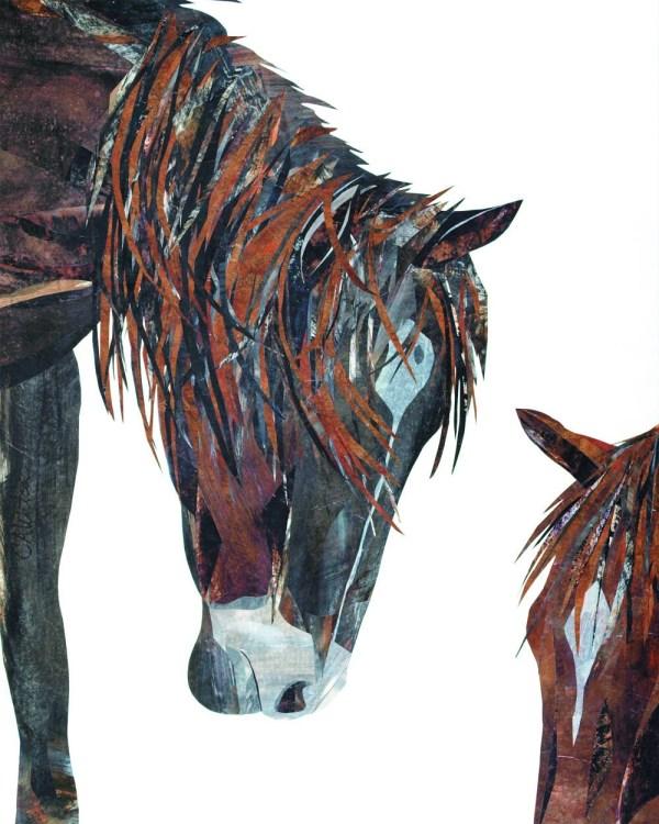Western Decor Horse Print Contemporary Art Original