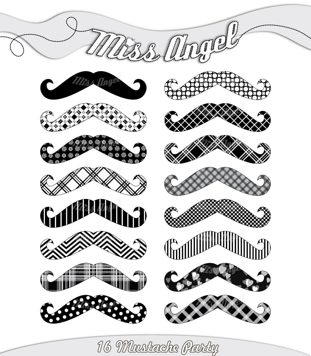 Mustache Party Clipart Clipart Mustache Black Clip Art