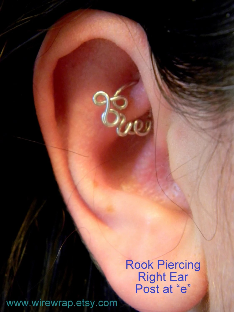 Love Hoop Cartilage Earring For Daith Rook Tragus Snug By