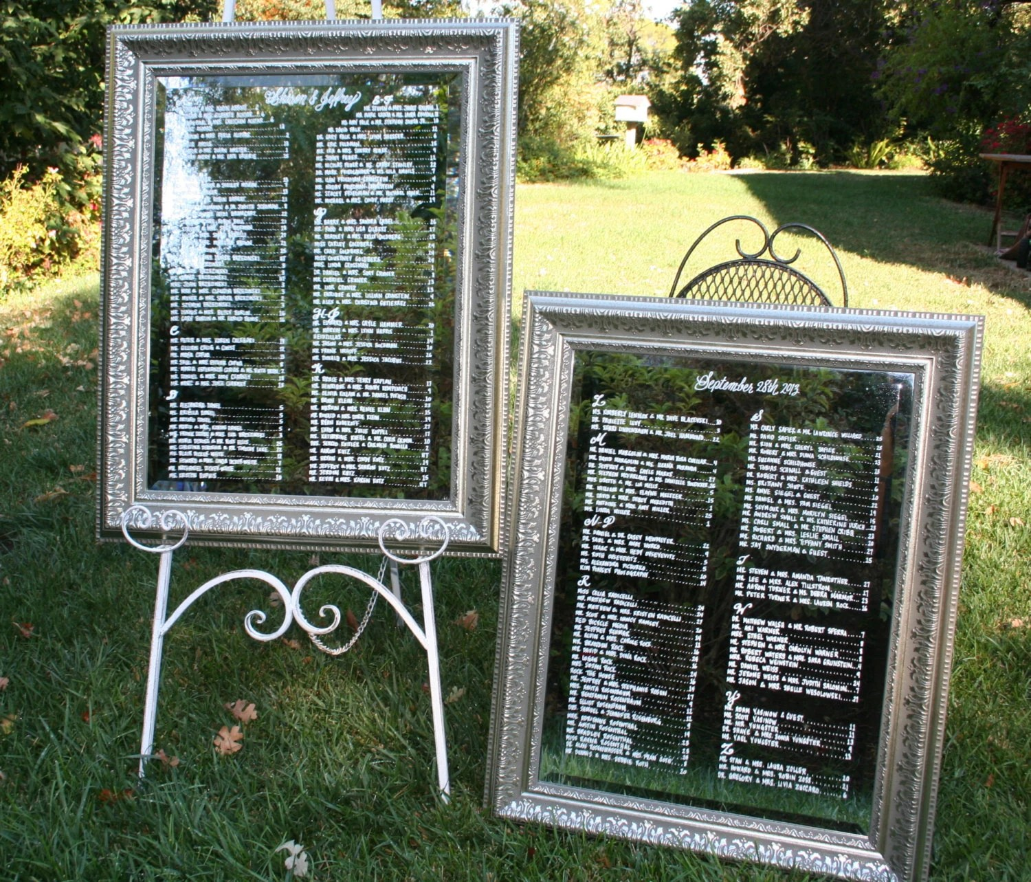 Wedding Reception Seating Chart PLEASE read by BeeCuriousDesigns