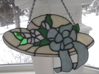 Stained Glass Ivory Decorative Hat Hanging by maddy7 on Etsy
