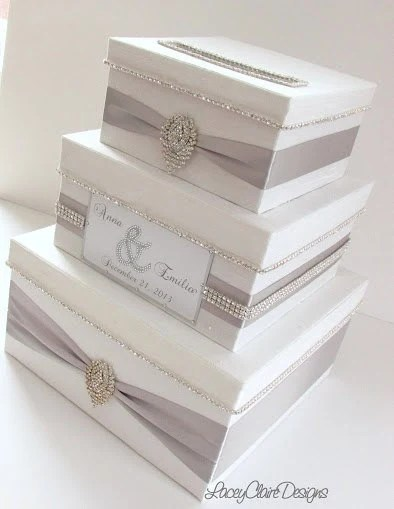 Wedding Card Box Bling Card Box Money Holder Box with