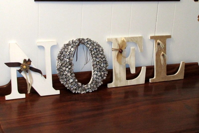 Noel letters Noel sign Mantel decor Holidays decor Noel