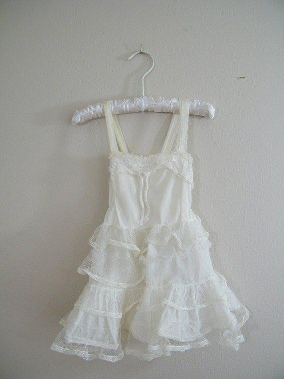 Vintage 1950s Girls Slip  Petticoat  Crinoline Slip