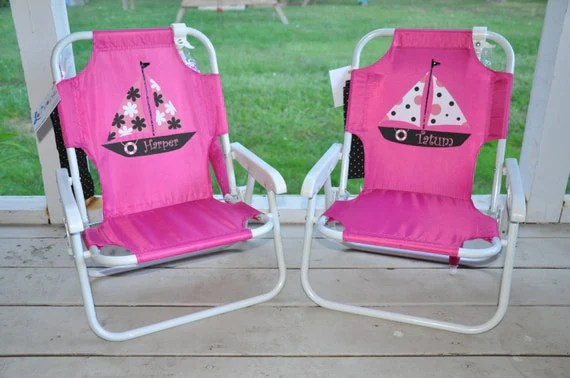 toddler beach chair personalized tripod folding child's with by shoppelollipopkids