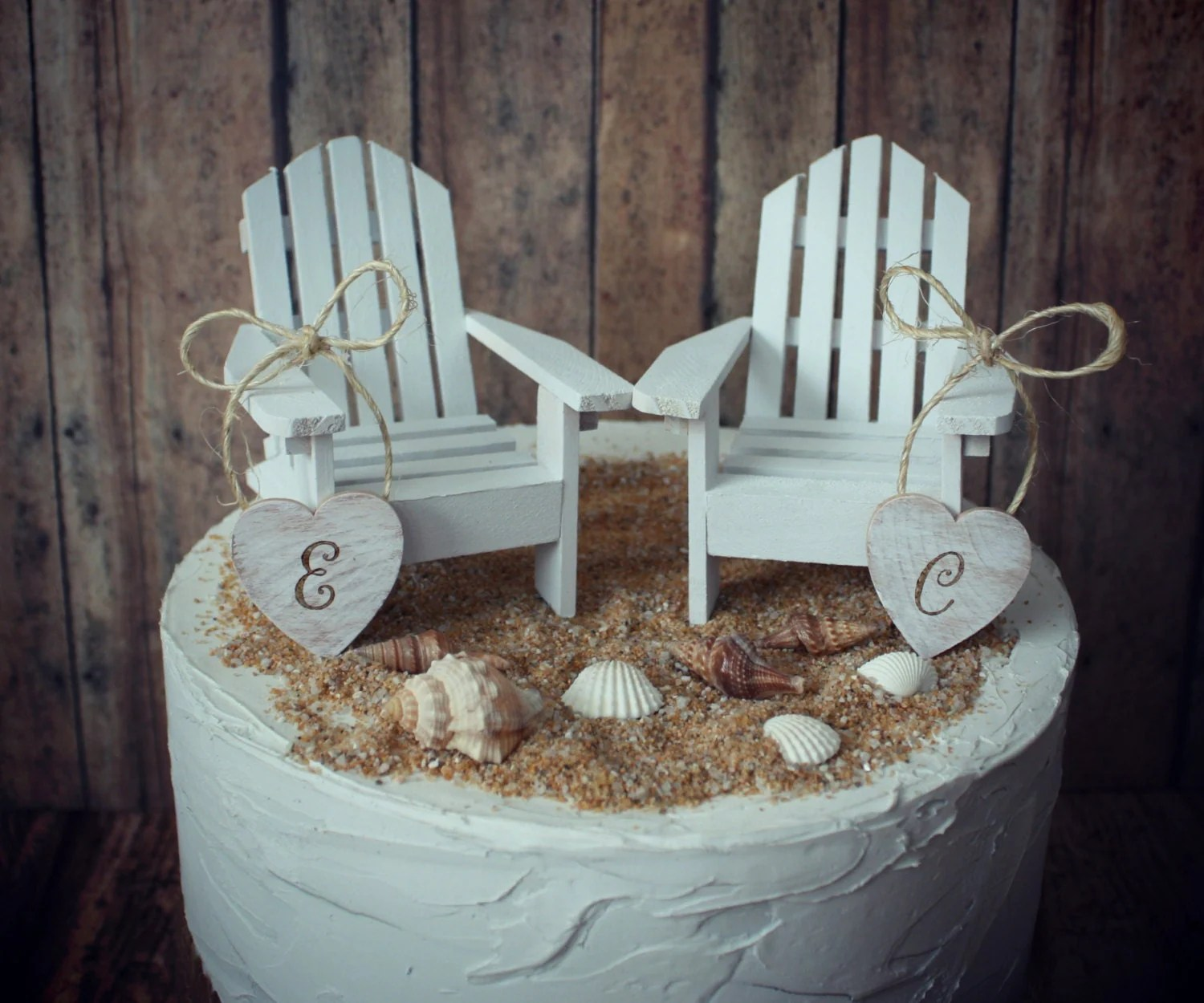 miniature adirondack chairs patio deck beach wedding
