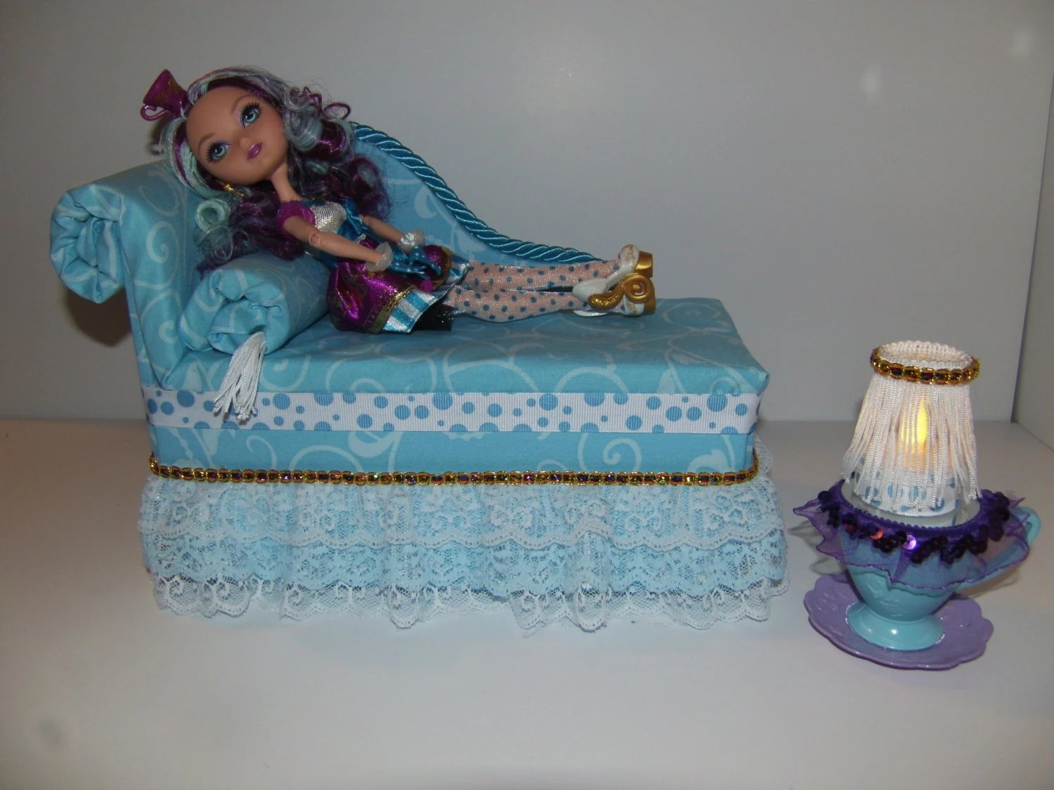 Furniture For Ever After High Dolls Handmade Chaise Lounge Bed