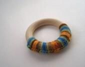Crochet Wool and Wood Teething Ring - TurkandBean