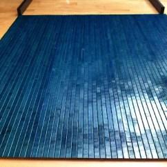Office Chair Wheels Hardwood Floors Kids Patio Chairs Tahoe Blue Bamboo Mat Floor Hard Wood By Ecosleek